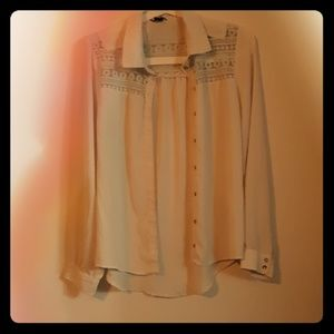 White transluscent Button up-Forever21